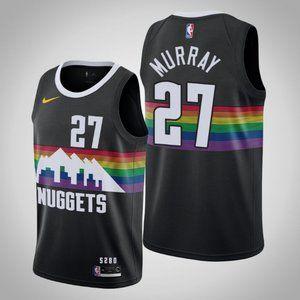 Denver Nuggets #27 Jamal Murray City Jersey black